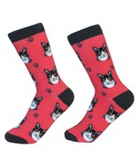 Black White Tabby Cat Socks Unisex Dog Cotton/Poly One size fits most - $11.99