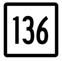 Connecticut State Highway 136 Sticker Decal R5151 Highway Route Sign - $1.45+