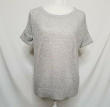 James Perse Womens Sz 2 Wool Cashmere Mesh Open Knit Sweater Short Sleev... - $39.99