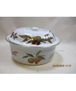 Royal Worcester Evesham casserole 1.75 quart oval covered gold trim - $59.40