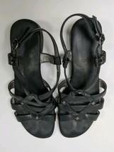 Black Strappy Sandals Easy Spirit 7/2 - $16.12 CAD