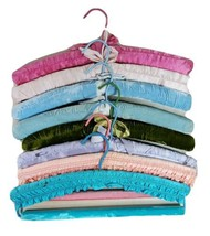 Fabric Clothes Hangers Soft Material Shabby Victorian Set of 8 Distresse... - $34.29