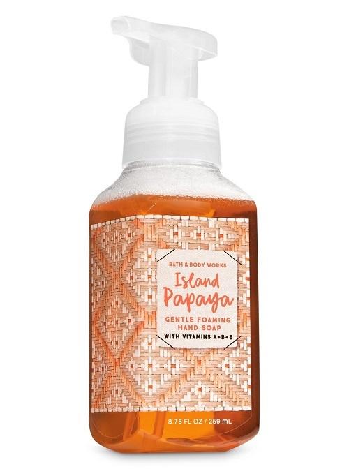 Bath & Body Works Island Papaya Gentle Foaming Hand Soap - 3 Pack