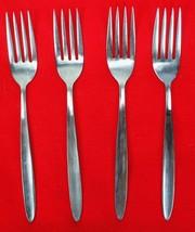 """4X Dinner Forks Englishtown ENS2 Stainless Glossy Flatware 7 1/2"""" Fork P... - $33.66"""