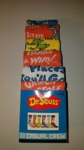 dr seuss mens casual crew socks fits shoe size 8 - 12 six pairs new in p... - $23.95