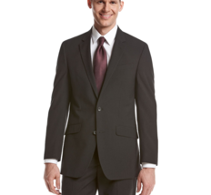 REACTION Kenneth Cole Men's Slim Fit Black Stripe Suit, NO PANTS , 40 R - $52.87