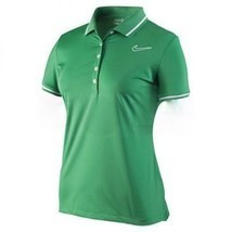 NIKE GOLF WOMENS TOUR PERFORMANCE SWOOSH POLO SHIRT DRI FIT M GREEN PINK... - $32.71