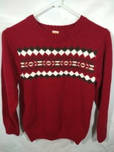 Boys Sweater Size 10-12 Large Red Gymboree Nordic Knit Long Sleeve Winter Top - $24.99