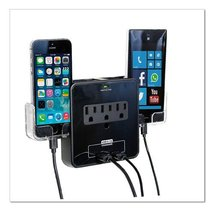 RND Power Solutions Wall Power Station includes 3 AC Plugs and 2 USB por... - $14.99