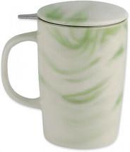 CasaWare Tilt and Drip 16 Oz. Marble Tea Infuser Mug In Forest - $40.54