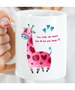 You Stole My Heart But I'll Let You Keep It NEW Giraffe Mug Wife Girlfri... - £12.84 GBP+
