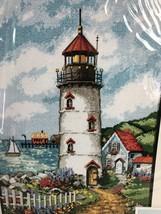 """Dimensions Lighthouse Cove Needlepoint Kit New 10x14"""" Vtg 1995 Designer ... - $39.59"""
