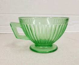 Vintage Green Iridescent Carnival Glass Tea Cup Mug - $6.13