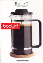 BODUM BISTRO FRENCE PRESS COFFEE MAKER 8 CUPS SILVER MADE IN SWITZERLAND... - £27.27 GBP
