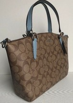 New Coach 28989 small Kelsey Coated Canvas with Leather Satchel Khaki Co... - $128.00