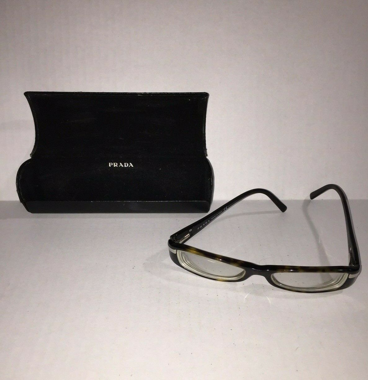 Prada Prescription RX Glasses Italy Black Frame Case Box Use For Frame Vintage