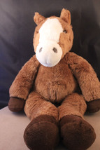 "BUILD A BEAR BROWN FLOPPY HORSE PONY 18"" PLUSH STUFFED DOLL TOY RETIRED - $5.23"
