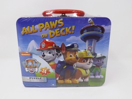 Cardinal Nickelodeon Paw Patrol Puzzle in Lunch Box Tin - New - 24 Piece - $16.14