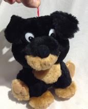 Ganz Rottweiler Black Puppy Dog Plush Stuffed Animal hanging loop orname... - $13.09