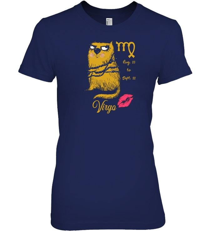 Funny Zodiacs For Cat Lovers Tshirt   Virgo image 2