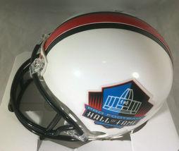 RAY LEWIS / NFL HALL OF FAME / AUTOGRAPHED HALL OF FAME LOGO MINI HELMET / COA image 3