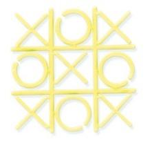 One Mini Tic Tac Toe Game 2 inch x 2 inch Plastic Yellow  - ₨209.07 INR