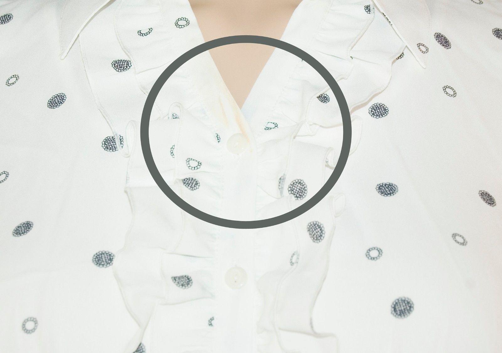JM Collection Women's Button Down 2-Piece Blouse Size 18 White Polka Dots $44