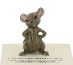Hagen Renaker Miniature Mouse Hands on Hips Ceramic Figurine