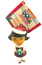 DORA the Explorer-All Dressed Up For Christmas Ornament- By Kurt Adler-Holiday! - $8.54
