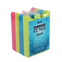 F40C4TMP Cooler Ice Packs for Lunch Boxes Bag, Set of 4 Reusable Small S... - $14.74 CAD