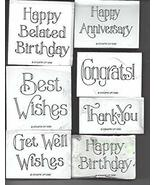 Stampin' up! - Favorite Greetings Set of 7 Foam Mounted Rubber Stamps - ... - $39.99