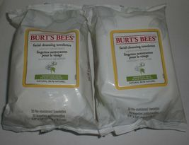 Burt's Bees Face Cleansing Towelettes Wipe Cotton Extract Sensitive Skin 30 x6 image 4