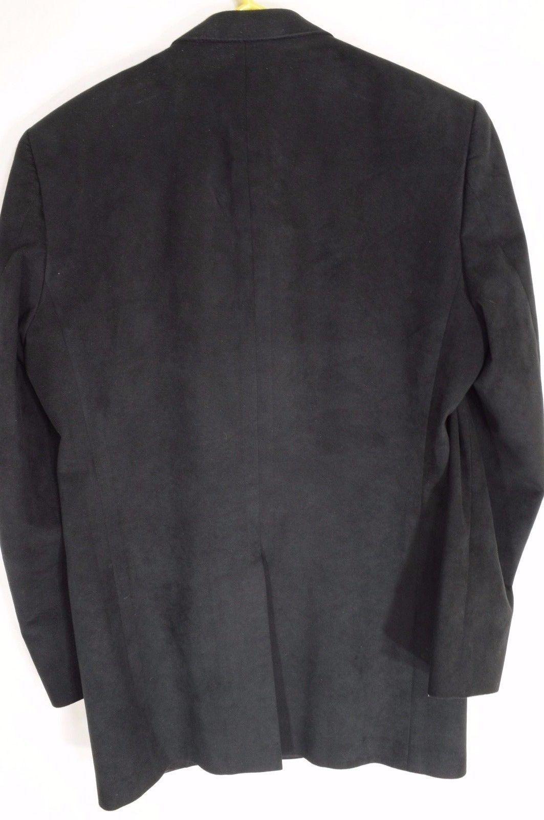 1 Kepp's Men Shops evening coat black 42L ultrasuede handcraft USA holiday.