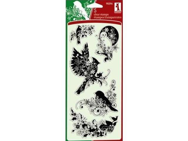 Inkadinkado Winter Birds Clear Stamp Set #98396
