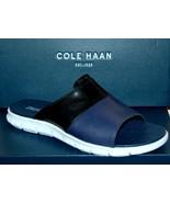 Cole Haan Mens Zerogrand Slide Black/Optic White Flip Flops Sandal Shoes... - $98.99