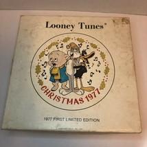 Dave Grossman Warner Bros Looney Tunes 1977 Christmas Plate Porky Daffy Bugs - $14.99