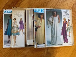 Vogue Vintage Patterns Lot Of 5: 1458, 1193, 1189, 2879, 1464 - $24.75