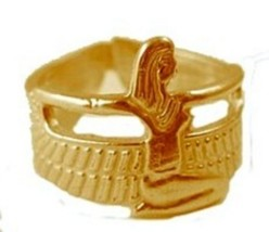 New Gold Plated Egyptian Isis Goddess Egypt over Sterling silver Ring egypt - $36.36