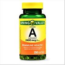 Spring Valley Vitamin A Immune Health 2400 mcg 250 Softgels - $11.80