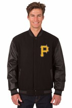 Pittsburgh Pirates Wool & Leather Reversible Jacket with Embroidered Log... - $249.99