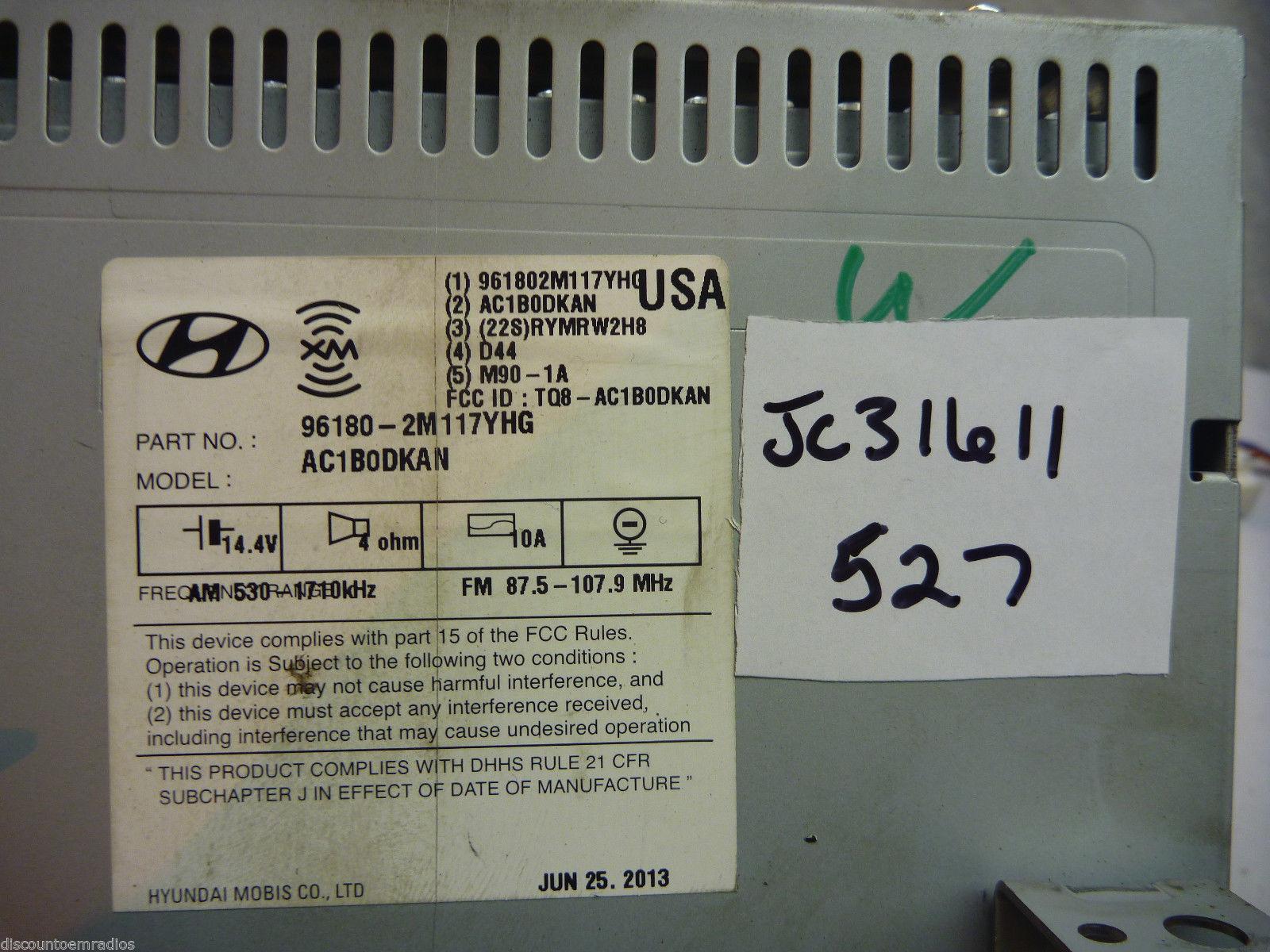 13 2013  Hyundai Genesis Radio Cd Player Mp3 Player 96180-2M117YHG  JC31611