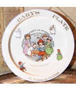 ANTIQUE Advertising Baby Plate BOWL C.NISS & SONS FURNITURE PIPER'S SON ... - $39.99