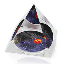 "Galaxy Art Solar System 2 Illustration 3.25"" Crystal Pyramid Paperweight - $29.95"