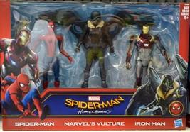 Marvel Spiderman Homecoming Spiderman Marvel's Vulture Ironman 3 Pack - $46.74