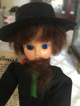 "amish boy doll vintage 8"" tall Blue eyes - $25.00"