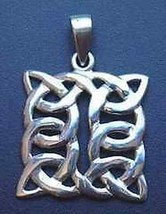 SALE Celtic Knot of Infinity Silver pendant charm Jewelry - $30.44