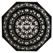 "24"" Marble Side Custom Coffee Table Top Mother of Pearl Inlay Garden Dec... - $920.98"