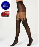 INC International Concepts Striped Mock Thigh High Tights Black XS/S - NWT - $8.32