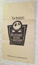 Disney Nightmare Before Christmas Movie Promo Trick Or Treat Bag 1994 Ti... - $36.99