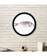 DIYthinker Ocean Fish Activity Curly Round Picture Frame Art Prints of P... - $30.29